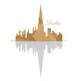 Isolated Dubai skyline vector image