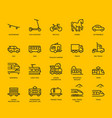land transport icons set vector image vector image