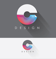 letter c colorful design element for business vector image