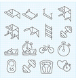 Linear sport icons vector image