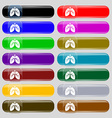 Lungs icon sign Set from fourteen multi-colored vector image vector image