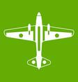 military aircraft icon green vector image vector image