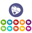 mother icons set color vector image vector image