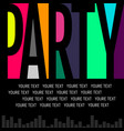 nice and beautiful abstract or night party flyers vector image vector image