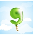 Number nine balloon vector image