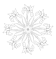 Ornamental round with irises vector image vector image