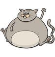 overweight cat cartoon animal character vector image vector image