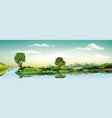 panoramic landscape - metropolis lake river the vector image