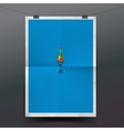 Paper banner with float fishing line underwater vector image vector image