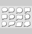 pop art speech bubble icon set retro frame shapes vector image
