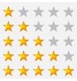 Rating stars gray vector image