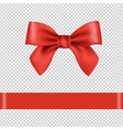 red bow isolated transparent background vector image vector image