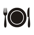 Restaurant menu icon vector image vector image