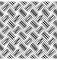 seamless black and white square pattern vector image vector image