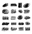 set artistic pencil brushes hand drawn grunge vector image vector image