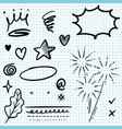 set hand drawn design elements vector image