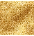 Shining abstract light mosaic golden background vector image