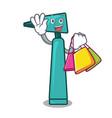 shopping otoscope character cartoon style vector image