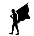 silhouette of a man with flag vector image vector image