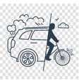 silhouette world car free day vector image vector image