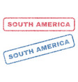 south america textile stamps vector image vector image