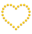 Stars heart vector image vector image