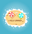 summer beach on top view in island on sea vector image vector image