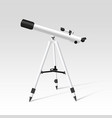 telescope realistic design on white background vector image vector image