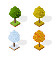 trees forest camping vector image vector image
