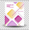 unique artistic summer card with bright gradient vector image vector image