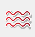 waves sign new year reddish vector image