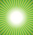 Green burst background vector image