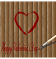 red heart paint vector image