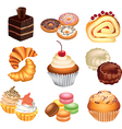 cakes set vector image