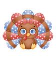 a cute cartoon turkey girl