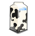 a single carton of milk with the words and black vector image