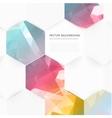 abstract color 3d hexagonal vector image vector image