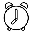 alarm bell clock time icon vector image