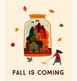 autumn cute design for card vector image vector image
