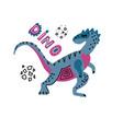 baby print with dino elaphrosaurus hand drawn vector image vector image