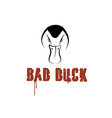 Bad duck design template vector image