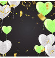 balloons and confetti party background concept vector image