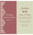 Baroque invitation pink and beige vector image vector image