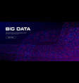 big data curved stream vivid data particles vector image vector image