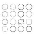 big set decorative hand drawn round frames vector image vector image