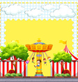 Border design with circus scene vector image