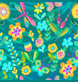 bright colorful floral pattern for beautiful vector image