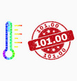 bright dotted thermometer icon and vector image vector image