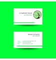 Business card with treecircle ornament background vector image