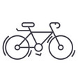 bycicle line icon sign on vector image vector image